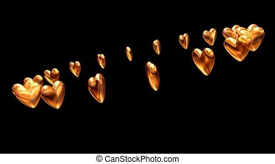 Circle of Gold Hearts