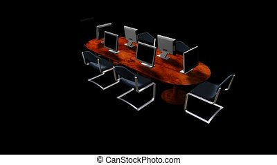 Conference Table with Computers