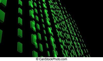 Green Tiles In Lines