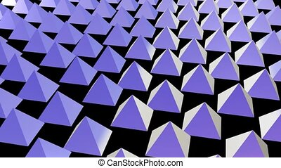 Rows of Purple Pyramids