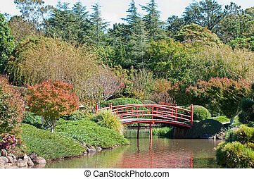 beautiful garden and park