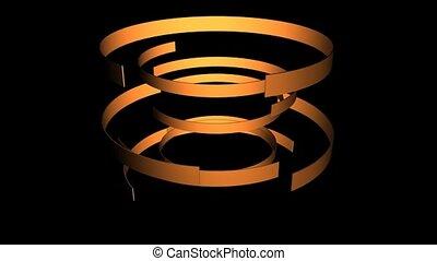 Gold Rotating Bands
