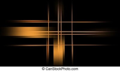 Intersecting Gold Lines