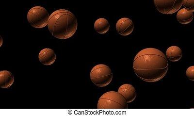 Basketballs Falling
