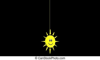 Smiley Sun on a String
