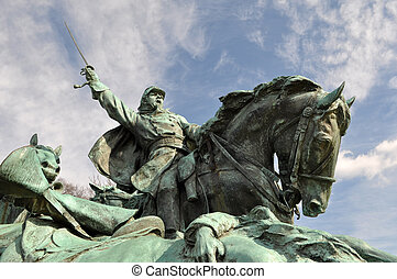 Civil War Soldier Statue in Washington DC