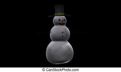 Snowman in a Top Hat