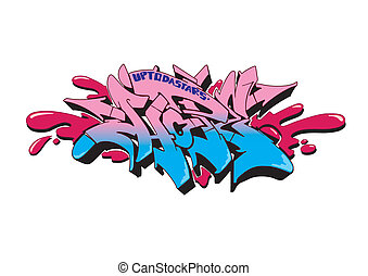Graffiti Hope - Graffiti vector sketch design, word HOPE