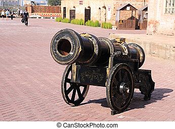 Age-old cannon - An age-old cannon is in a historical...