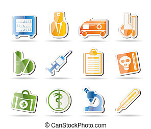 Medical and healthcare Icons - Vector Icon Set