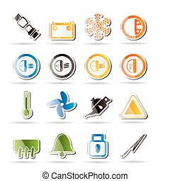 Car Dashboard icons -  vector icons set