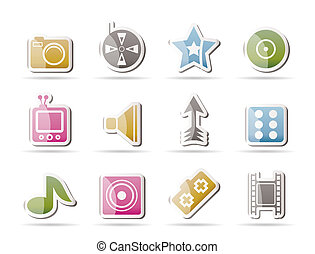 Entertainment and media Icons