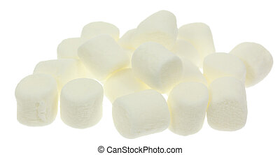 White Marshmallows - A stock photo of some marshmallows set...