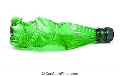 Squashed plastic bottle
