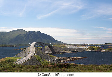 atlantico, norvegia, strada