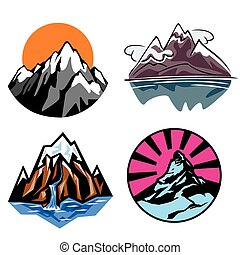 Mountains - set of vector images Mountains