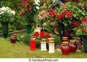 floral arrangement cemetery 11