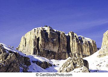 Val di Fassa - view of the Italian Alps in Val di Fassa