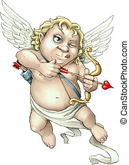 Aiming True - Valentine?s day cherub