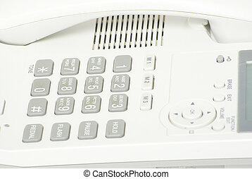 phone keypad - white phone keypad close up