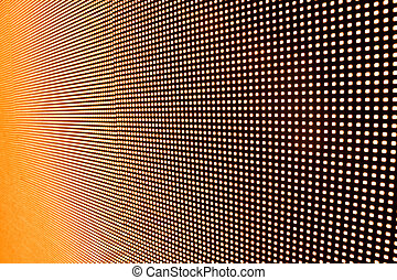 LED wall - Perspective view of LED wall  in orange color