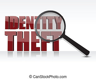 identity theft illustration design