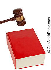 Code of laws for the court. - A red code with rules of...