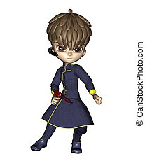 Cute Toon Male Starship Officer