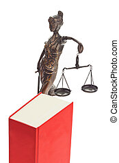Code of laws for the court - A red code with rules of court...