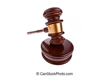 Gavel. Auction hammer in court. - A judge or auction hammer...