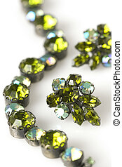 Vintage Green Bracelet and earrings - Vintage green bracelet...