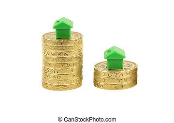 Property Market - Property market, Monopoly houses on pound...
