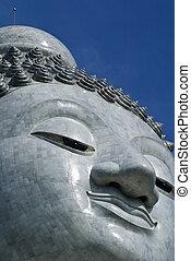 Budda - White stone budda on the Phuket island