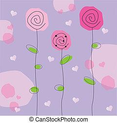 Valentine Flowers - Pink and purple valentine flowers