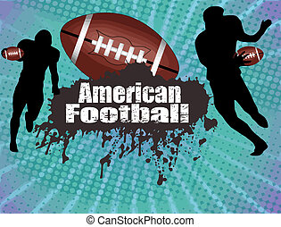 American football poster - Grunge american football poster...
