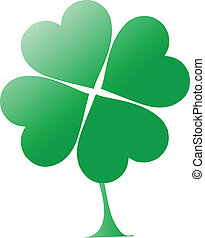 four-leaf clover vector illustration
