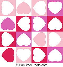 Background with sixteen hearts EPS 8 - Background with...