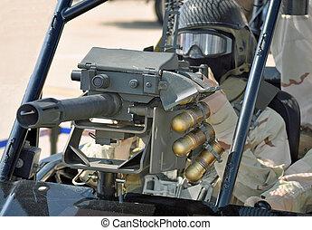 MK19 Grenade Launcher - A 40mm Grenade Launcher on a Desert...