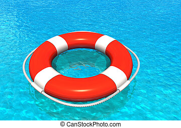 Lifesaver in water