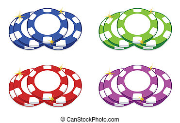 Casino chips - casino chips illustration design