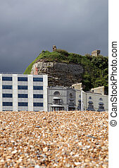 Hastings castle ruin