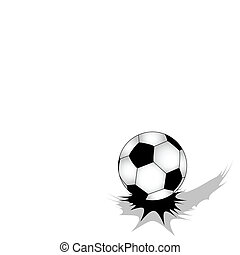 Soccer ball - Jumping soccer ball on white background with...