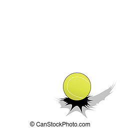Tennis ball  - Jumping tennis ball on white background