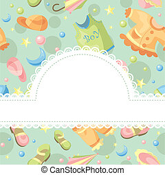 baby background illustration with free space for photo