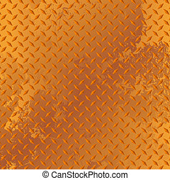Rusted diamond plate, texture with no mesh or transparencies