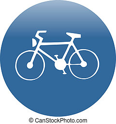 bike line traffic sign vector