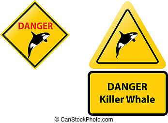 killer whale danger sign