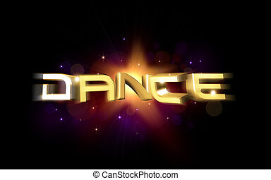 dance illustration - 3d rendered illustration of colorful...