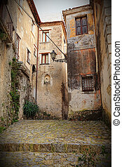 ancient house in scalea - streetview in scalea, ancient town...