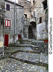scalea town detail - nice streetview of scalea ancient town...